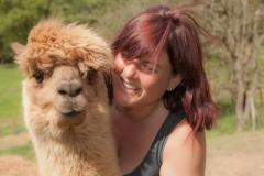 Debby with alpaca